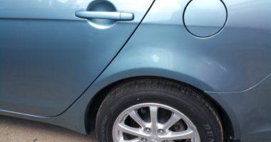 ремонт и окраска левой двери и заднего крыла