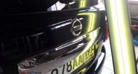 удаление вмятин без покраски на крышке багажника